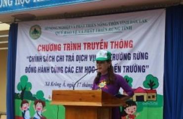 """Buổi truyền thông """"Chính sách chi trả DVMTR đồng hành cùng học sinh đến trường"""" tại Trường THCS Phan Đình Phùng"""