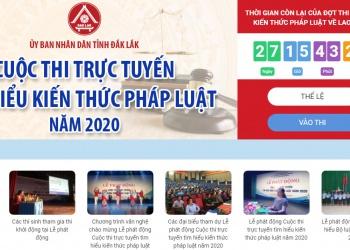 Giới thiệu Cuộc thi trực tuyến tìm hiểu kiến thức pháp luật năm 2020 tỉnh Đắk Lắk
